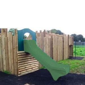 Children's slide on a play fort