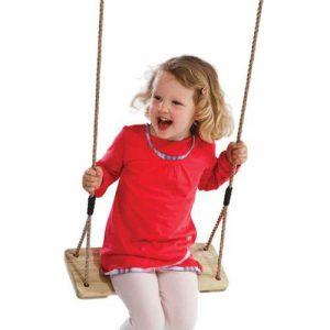 Wooden swing seat
