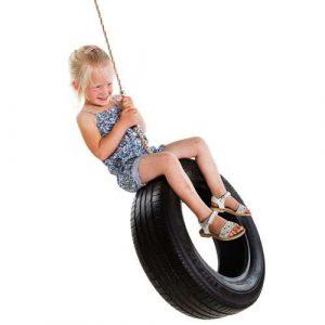 Vertical tyre swing