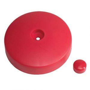 Round post cap
